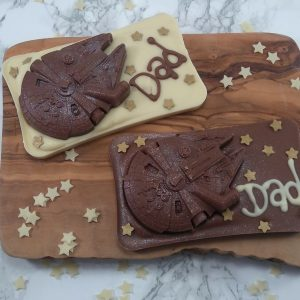 chocolate slab with star wars theme