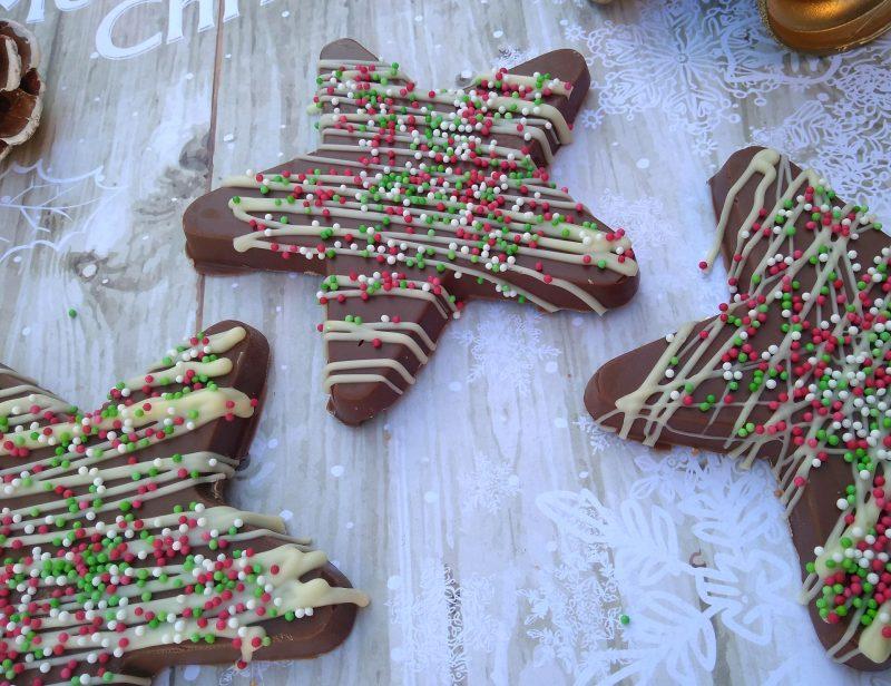 chocolate christmas stars