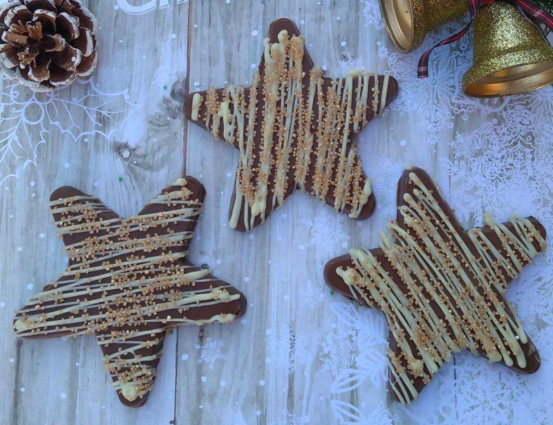 golden chocolate star