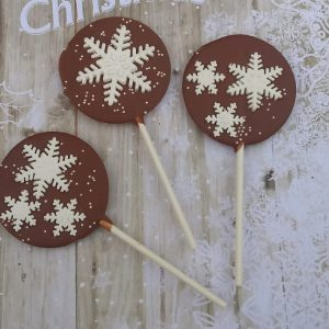 snowflake lollipop