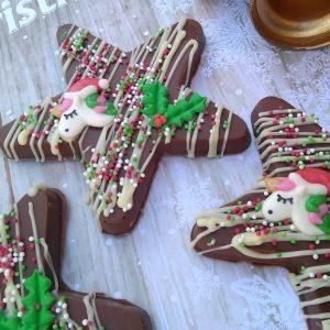 Chocolate stars with unicorns