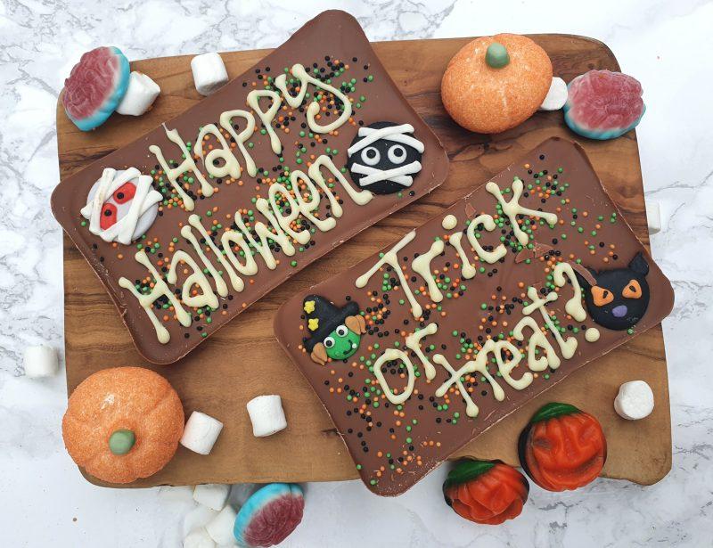 halloween chocolate slab