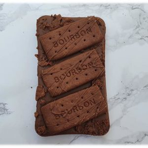 bourbon biscuit chocolate slab