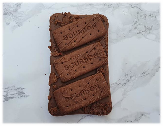 bourbon biscuit chocolate slab